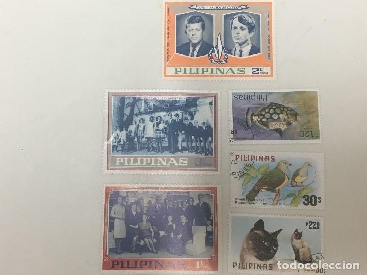 3 SELLOS DE JOHN Y ROBERT KENNEDY 3 DE PAJAROS (Sellos - Extranjero - Asia - Filipinas)