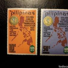 Selos: FILIPINAS. YVERT 794/5 SERIE COMPLETA SIN GOMA. FARMACIA. ASOCIACIÓN DE FARMACÉUTICOS. MAPAS. Lote 182556295