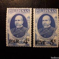 Timbres: FILIPINAS. YVERT 835/6 SERIE COMPLETA NUEVA CON CHARNELA. ANTONIO REGIDOR. SOBRECARGADOS.. Lote 182740648