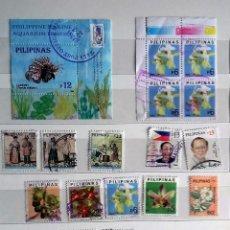 Sellos: FILIPINAS: LOTE DE 16 SELLOS USADOS DIFERETES. Lote 191994662