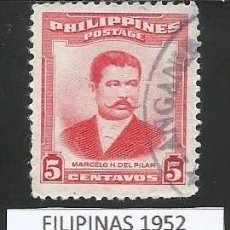 Sellos: FILIPINAS 1952 - 5 CENTAVOS - PH 550 - 1 SELLO USADO. Lote 193181417