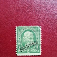 Sellos: FILIPINAS - 1 ONE CENT - AÑO 1899-1900 - UNITED STATES POSTAGE - SOBRECARGADO: PHILIPPINES. Lote 195618162
