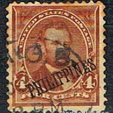 Sellos: FILIPINAS Nº 216 (AÑO 1.899), SERIE BÁSICA, SELLOS DE ESTADOS UNIDOS SOBRECARGADO FILIPINAS, USADO. Lote 200848770