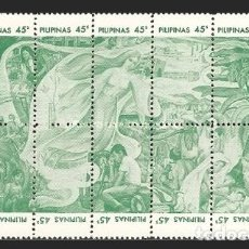 Sellos: FILIPINAS 1975 - 25 ANIVERSARIO DE LA ASOCIACION ORTOPEDICA - YVERT Nº 974/983**. Lote 205050568