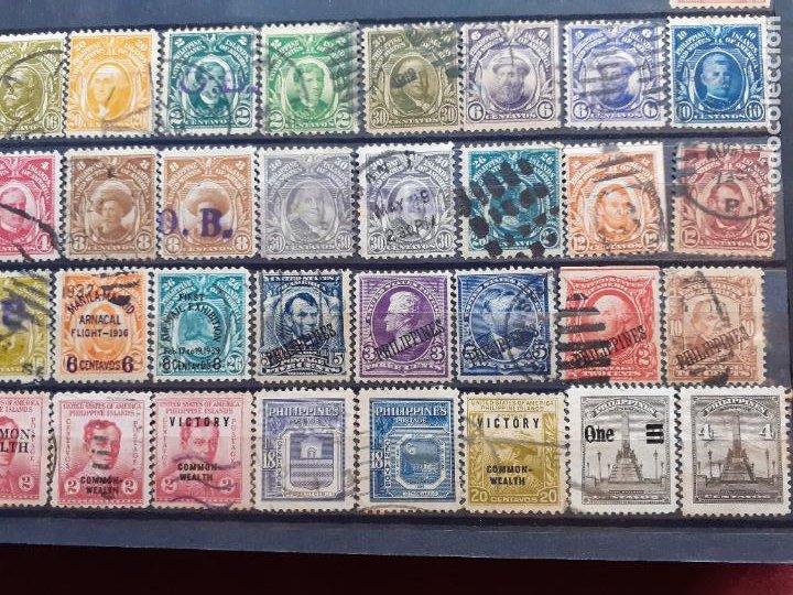 Sellos: Philippine Islands. Filipinas. Administración de Estados Unidos. 63 sellos. Raros algunos. Aéreos - Foto 3 - 205854300