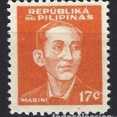 Sellos: FILIPINAS 1944 - OCUPACIÓN JAPONESA EN LA 2ª GM, HÉROES NACIONALES, A.MABINI - NUEVO C/F*. Lote 210600327