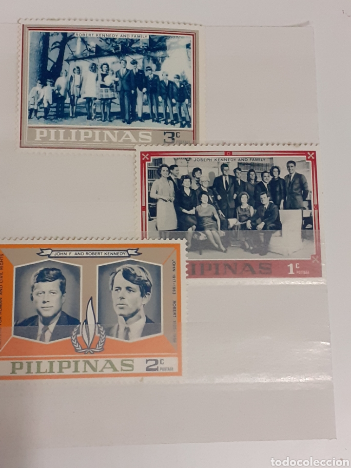 3 SELLOS DE FILIPINAS ,NUEVOS, AÑOS 60 (Sellos - Extranjero - Asia - Filipinas)