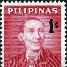 Sellos: FILIPINAS 1963 IVERT 560/1 *** SERIE BÁSICA - APOLINARIO MABINI Y JOSÉ RIZAL - PERSONAJES. Lote 212960598