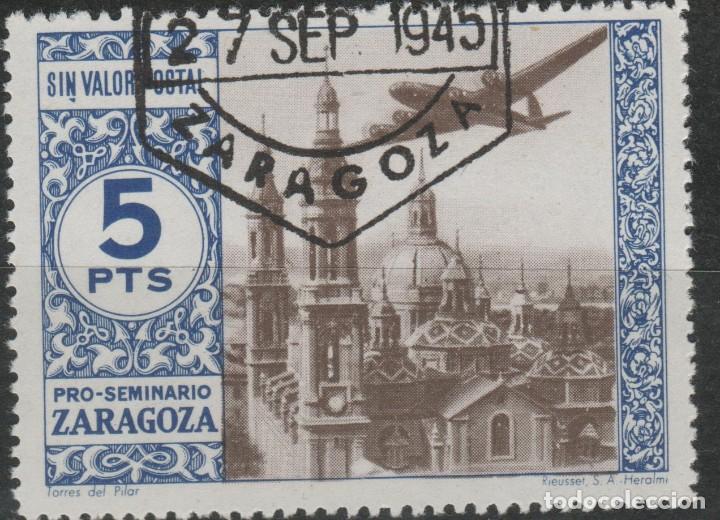 LOTE 20-22 SELLO VIÑETA ZARAGOZA (Sellos - Extranjero - Asia - Filipinas)