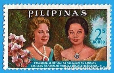 FILIPINAS. 1965. PRINCESA BEATRIZ DE HOLANDA Y EVANGELINA MACAPAGAL (Sellos - Extranjero - Asia - Filipinas)