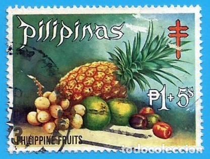 FILIPINAS. 1972. FRUTAS. LANZONES. NARANJA. CIRUELA. PIÑA (Sellos - Extranjero - Asia - Filipinas)