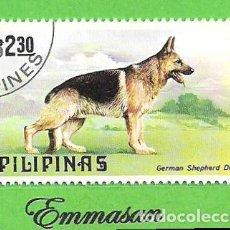 Sellos: FILIPINAS - MICHEL 1310 - YVERT 1142 - PERRO PASTOS ALEMAN. (1979).. Lote 216705642