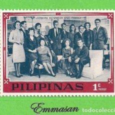 Sellos: FILIPINAS - MICHEL IX A - FAMILIA KENNEDY - JOSEPH KENNEDY Y FAMILIA. (1968).** NUEVO SIN FIJASELLOS. Lote 216706415