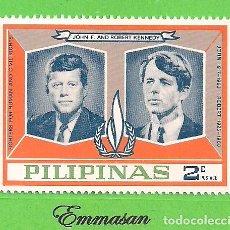 Sellos: FILIPINAS - MICHEL X A - FAMILIA KENNEDY - JOHN F. Y ROBERT KENNEDY. (1968).** NUEVO SIN FIJASELLOS. Lote 216706582