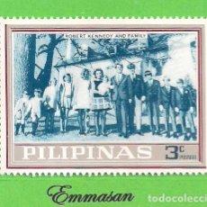 Sellos: FILIPINAS - MICHEL XI A - FAMILIA KENNEDY - ROBERT KENNEDY Y FAMILIA. (1968).** NUEVO SIN FIJASELLOS. Lote 216706707