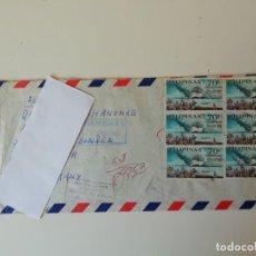 Sellos: CARTA CON SELLOS DE FILIPINAS (3). Lote 217064391
