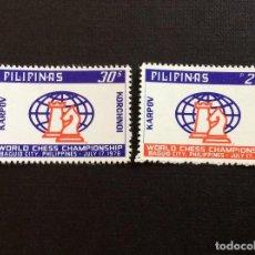 Sellos: FILIPINAS Nº 1070/1*** AÑO 1978. DEPORTES. CAMPEONATO MUNDO DE AJEDREZ KARPOV-KORCHNOI. Lote 221516427