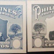 Timbres: O) 1952 FILIPINAS, PRUEBA DE DADO SIN VALOR FACIAL, SEÑORA MANUEL L. QUEZON, LA SUPERTAX FUE UTILIZ. Lote 221848317