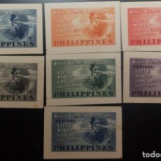 Sellos: O) 1950 PHILIPPINES, DIE PROOF NO FACIAL VALUE, 5TH WORLD CONGRESS OF THE JUNIOR CHAMBER OF COMMERCE. Lote 221849171