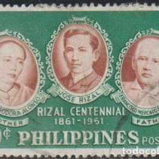 Sellos: FILIPINAS 1961 SCOTT 838 SELLO º PERSONAJES JOSE RIZAL Y PARIENTES MICHEL 679 YVERT 520 STAMPS. Lote 222466653