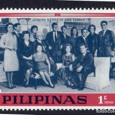 Selos: ASIA. FILIPINAS. DERECHOS HUMANOS. JOSEPH KENNEDY Y FAMILIA. NUEVO SIN CHARNELA. Lote 224144133