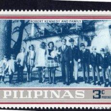 Selos: ASIA. FILIPINAS. DERECHOS HUMANOS. ROBERT KENNEDY Y FAMILIA. NUEVO SIN CHARNELA. Lote 224144215