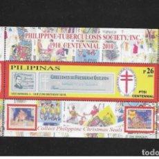 Sellos: O) 2010 FILIPINAS, MEDICINA, TUBERCULOSIS - SOCIETY INC DESDE 1910, MANUEL L. QUEZON 1935, COLECCION. Lote 225574712
