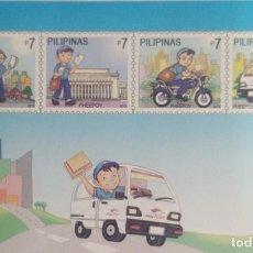 Sellos: 2010 FILIPINAS, 227 ANIVERSARIO DE POSTAL, PHEEPOY, CARTERO. Lote 227102730