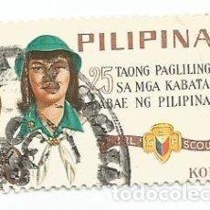 Sellos: SELLO USADO DE FILIPINAS DE 1966-25 AÑOS DE LAS GIRL SCOUTS- YVERT 645- VALOR 10 CENTIMOS. Lote 227159260