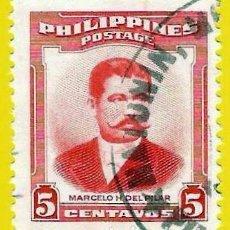 Selos: FILIPINAS. 1952. MARCELO H. DEL PILAR. Lote 227989420