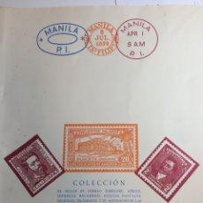 Selos: ÁLBUM 148 SELLOS FILIPINAS 1899-1959. Lote 228195255