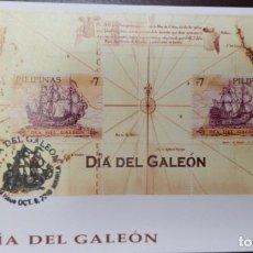 Selos: O) FILIPINAS 2010, DÍA DE GALEÓN, MAPA DE RUTA. BARCO ESPAÑOL. SOUVENIR MNH. Lote 232228590
