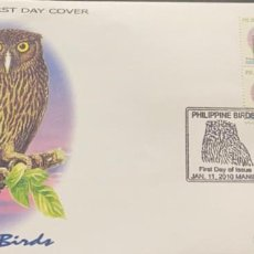 Sellos: O) 2010 PHILIPPINES, OWLS - BIRDS, FDC XF. Lote 242020005