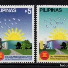 Sellos: FILIPINAS 2544/45** - AÑO 1999 - 3ª CUMBRE INFORMAL DE LA ASEAN. Lote 252875405