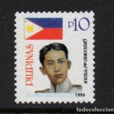 Sellos: FILIPINAS 2560A** - AÑO 1999 - GREGORIO DEL PILAR, HÉROE DE LA REVOLUCIÓN. Lote 252875420