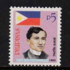 Sellos: FILIPINAS 2497** - AÑO 1999 - PERSONAJES - JOSÉ RIZAL. Lote 253691420