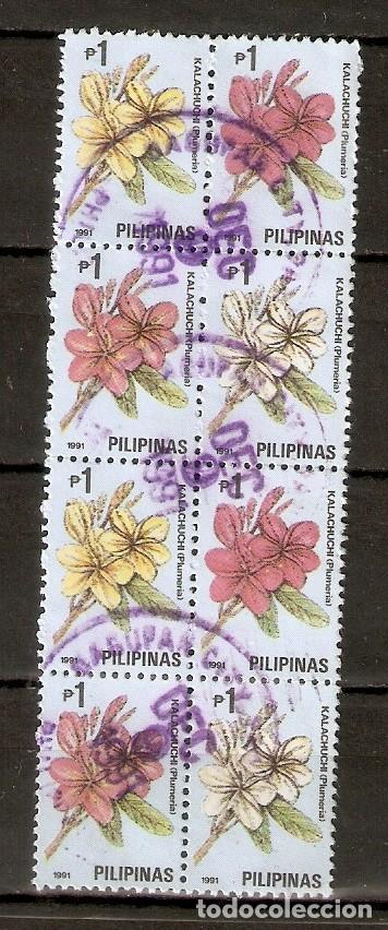 FILIPINAS . 1991. FLORES. (Sellos - Extranjero - Asia - Filipinas)