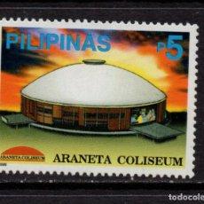 Sellos: FILIPINAS 2548** - AÑO 1999 - ARQUITECTURA - COLISEUM ARANETA. Lote 253692810