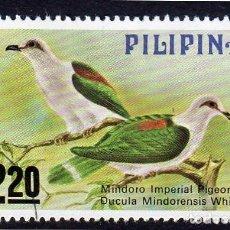 Sellos: ASIA. FILIPINAS. FAUNA. MINDORO IMPERIAL. USADO SIN CHARNELA. Lote 260282650