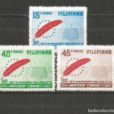 Sellos: FILIPINAS YVERT NUM. 960/962 SERIE COMPLETA NUEVA SIN GOMA. Lote 262945580