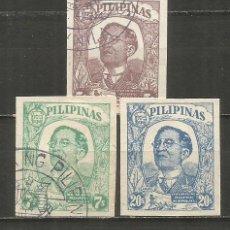 Selos: FILIPINAS OCUPACION JAPONESA YVERT NUM. 41/43 SERIE COMPLETA USADA. Lote 272383768