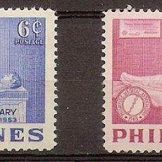 Sellos: FILIPINAS 1953 - YVERT 414/415 **. Lote 277013613