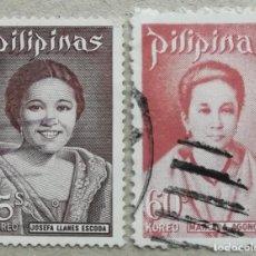Sellos: 1973. FILIPINAS. MUJERES EN LA HISTORIA DE FILIPINAS. JOSEFA LEONES Y MARCELA AGONCILLO. USADO.. Lote 278797128