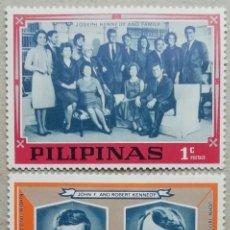 Sellos: 1968. FILIPINAS. LA FAMILIA DE LOS KENNEDY. JOHN Y ROBERT. NUEVO.. Lote 278797383