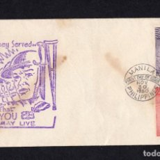 Sellos: FILIPINAS 1959, ELLOS SIRVIERON PARA QUE TU VIVAS. Lote 284399043