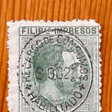 Sellos: FILIPINAS, ALFONSO XII, RECARGO DE CONSUMO, 1888-1889, YVERT & TELLIER 1, NUEVO. Lote 286867943