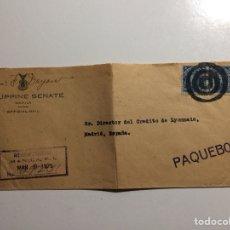 Sellos: CUBIERTA SENADO FILIPINAS EN MANILA A MADRID 1926. PAQUEBOT. PAQUEBOTE. Lote 287974658