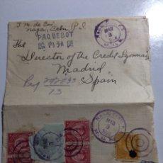 Selos: PAQUEBOT. PAQUEBOTE NAGA CEBU (FILIPINAS) A MADRID 1926. Lote 287974948