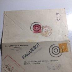 Selos: PAQUEBOT. PAQUEBOTE LUCENA. TAYABAS (FILIPINAS) A MADRID 1926. Lote 287976638