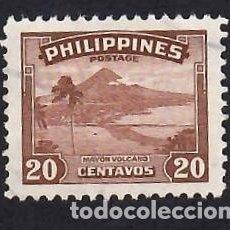 Sellos: FILIPINAS (1947). VOLCÁN MAYON. YVERT Nº 329. USADO.. Lote 289524123